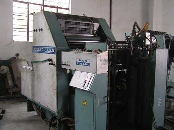 罗兰四开单色R201-TOB酒精润版二手印刷机