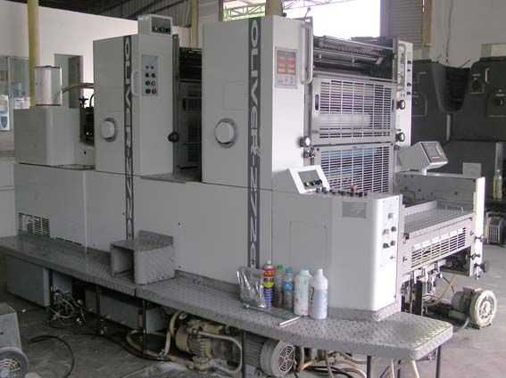 OLIVER-272RP-日本樱井大四开双色酒精印刷机