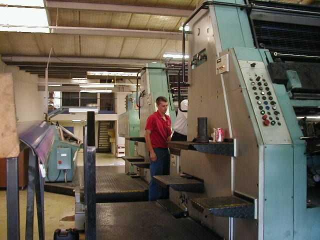 罗兰R804/7B全张四色二手印刷机