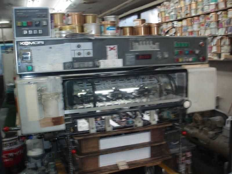 95年小森L-426斜拉版装置印刷机