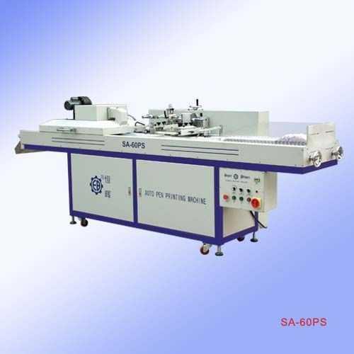 全自动笔杆丝印机图片|恒晖SA-60PS全自动笔杆丝印机