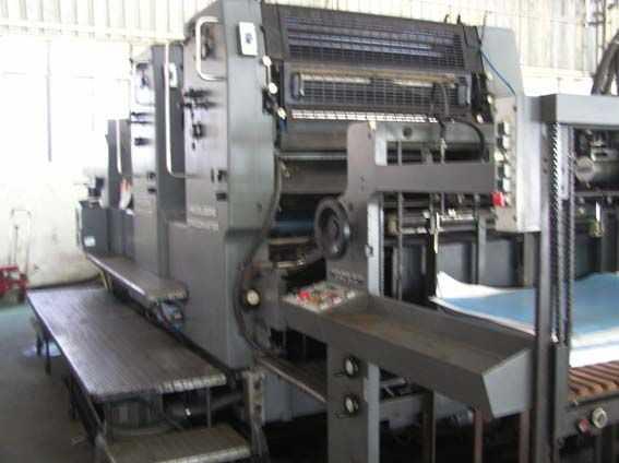海德堡对开双色102ZP印刷机
