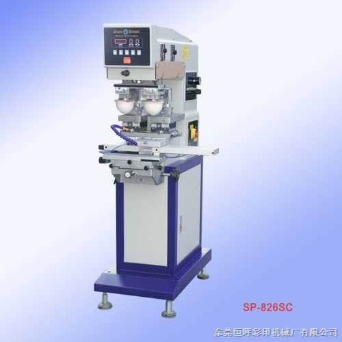 SP-826SC穿梭双色移印机 双色移印机生产厂家 恒晖双色恒晖移印机 移印机价格